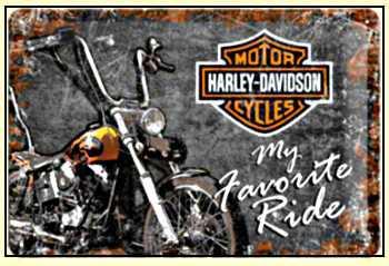 Harley-Davidson Favourite Ride Blechschild - Vorschau