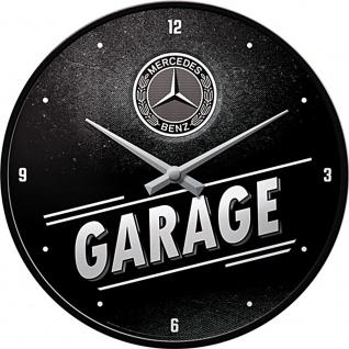 Mercedes-Benz - Garage Wanduhr (Echtglas)