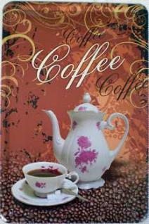 Coffee Blechschild - Vorschau