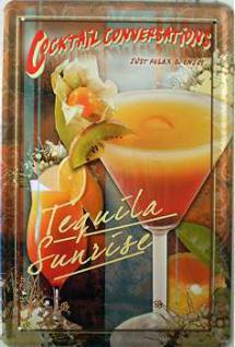 Cocktail Conversations Tequila Sunrise Blechschild - Vorschau