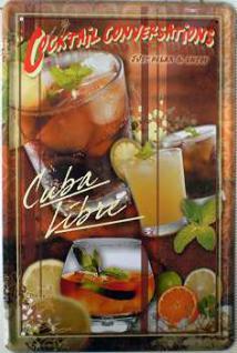 Cocktail Conversations Cuba Libre Blechschild - Vorschau