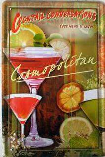 Cocktail Conversations Cosmopolitan Blechschild - Vorschau