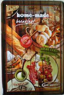 Breakfast Home made Blechschild - Vorschau
