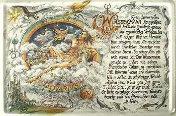 Sternzeichen Wassermann Blechschild - Vorschau