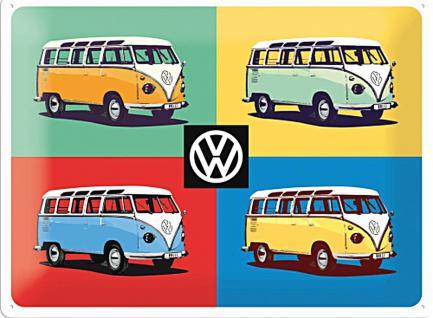 VW - Pop Art Four Bullies Blechschild, 40 x 30 cm