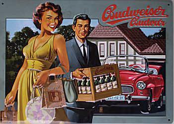 Budweiser - Zeitreise Blechschild - Vorschau