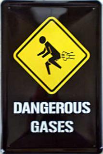 Dangerous Gases Blechschild, 20 x 30 cm