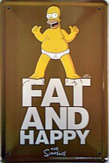 Simpsons - Fat and Happy Blechschild - Vorschau