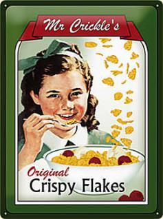Mr. Crickles Crispy Flakes Blechschild - Vorschau