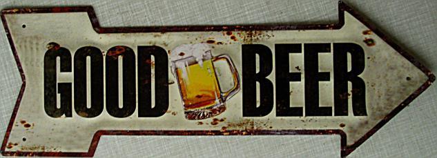 Good Beer Blechschild