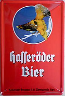 Hasseröder Bier, rot Blechschild