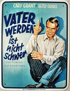 Cary Grant - Vater werden ist nicht schwer Blechschild - Vorschau
