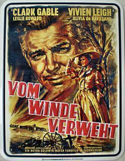 Clark Gable - Vom Winde verweht Blechschild - Vorschau