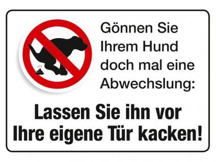 Blechpostkarte Gönnen Sie Ihrem Hund...