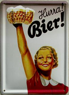 Hurra Bier! Mini Blechschild
