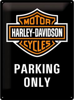 Harley-Davidson Parking Only Blechschild