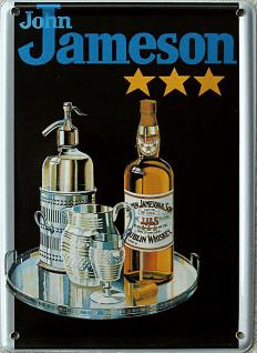 John Jameson Whiskey, schwarz Mini Blechschild - Vorschau