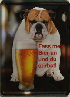 Fass mein Bier an? Mini Blechschild