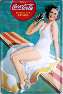 Coca Cola Diving Girl Blechschild