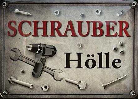 Blechpostkarte Schrauberhölle