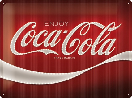 Coca-Cola - Logo Red Lights Blechschild