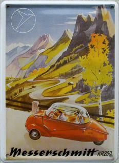 Messerschmitt Mini Blechschild
