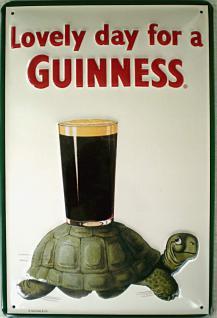 Guinness Lovely Day Schildkröte Blechschild
