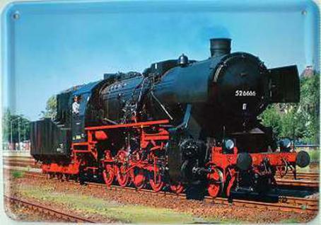 Blechpostkarte Lokomotive 526666