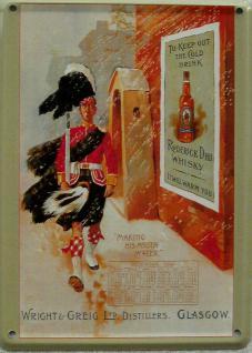 Roderick Dhu Whisky Mini Blechschild