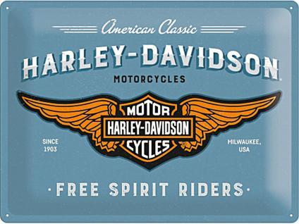 Harley-Davidson - Logo Blue Blechschild, 40 x 30 cm