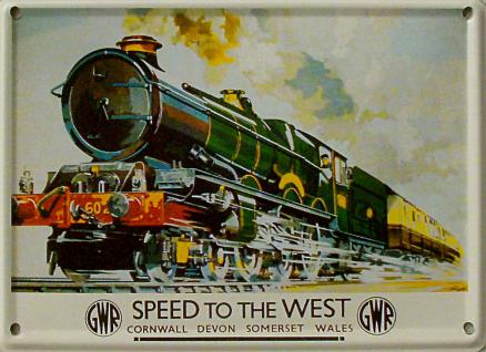 Speed to the West Mini Blechschild