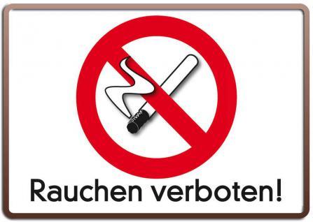 Blechpostkarte Rauchen verboten