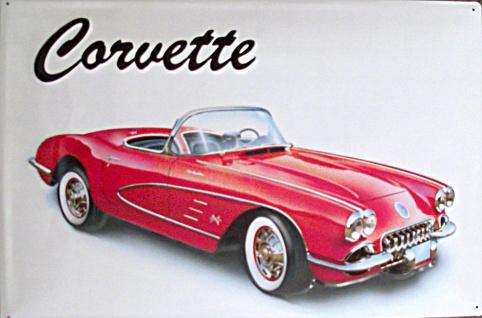 Corvette Blechschild