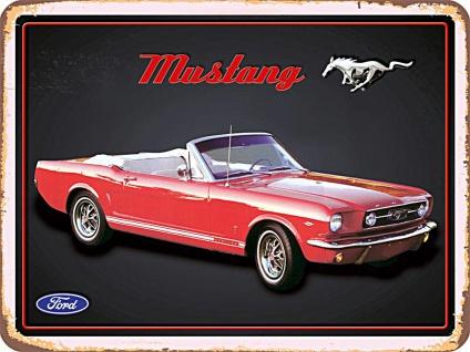 Ford Mustang No.2 Blechschild, 40 x 30 cm