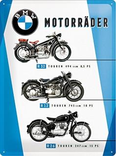 BMW - Motorräder Chart Blechschild