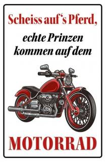 Scheiss aufs Pferd (Motorrad) Blechschild