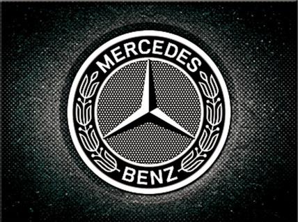 Magnet Mercedes-Benz - Logo Black