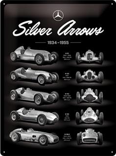 Mercedes-Benz -Silver Arrows Chart Blechschild