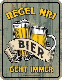 Funschild - Regel No.1 Bier geht immer
