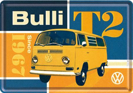 Blechpostkarte VW - Bulli T2