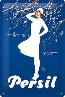 Persil - weisse Dame blau Blechschild