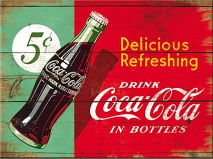 Magnet Coca-Cola - Delicious Refreshing Green