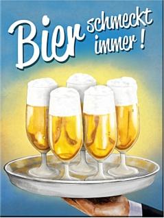Magnet Bier - Bier schmeckt immer Tablett