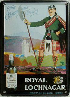 Royal Lochnagar Whisky Mini Blechschild