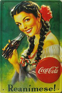 Coca Cola Reanimese Blechschild