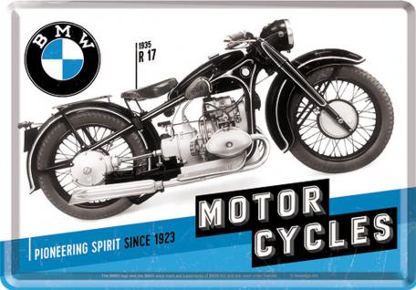 Blechpostkarte BMW - Timeline Motorcycles