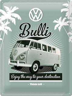 VW - Retro Bulli Blechschild