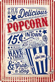 Popcorn Blechschild - Vorschau