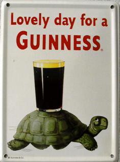 Guinness Schildkröte Mini Blechschild
