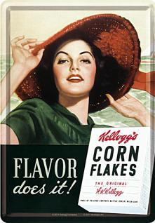 Blechpostkarte Kelloggs Flavor Does It
